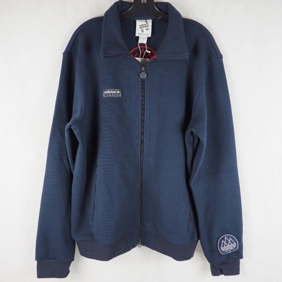 148151968688 Adidas Men s Soccer Jacket Beckenbauer TT Blue L